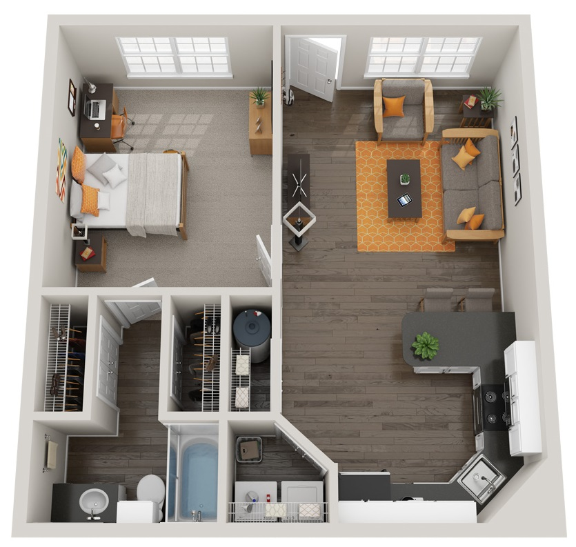 Floorplan - Eagle - Fully Furnished image
