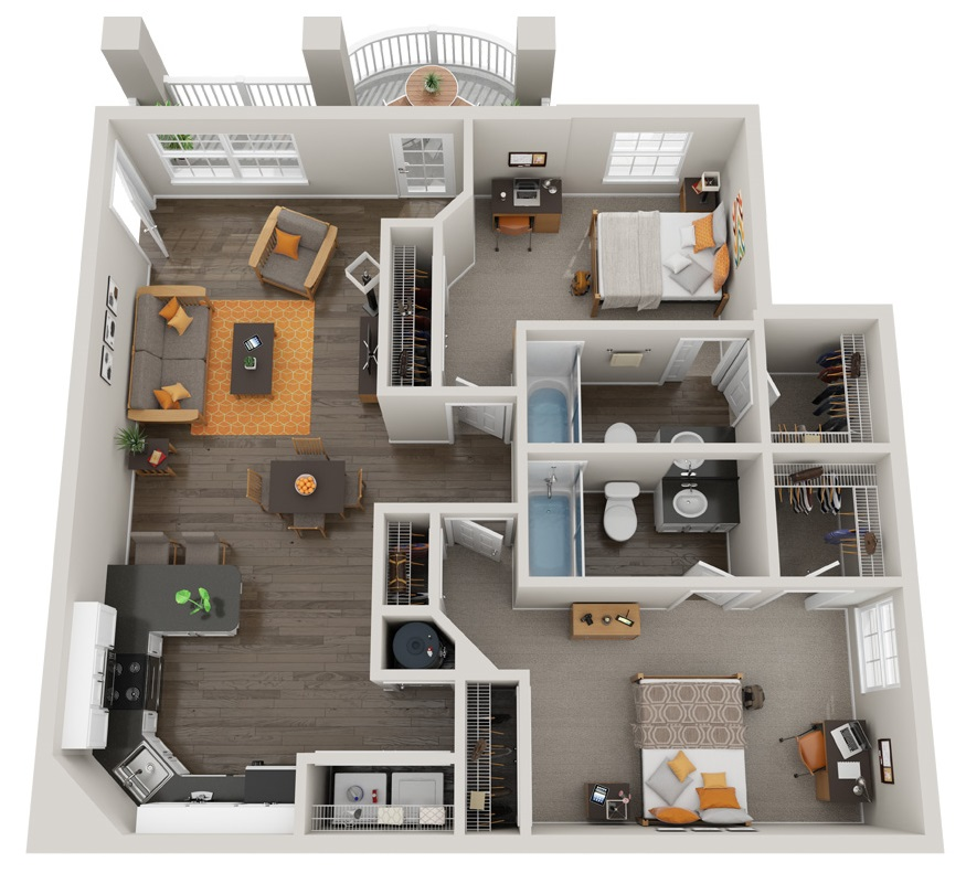 Floorplan - The Green - Fully Furnished image