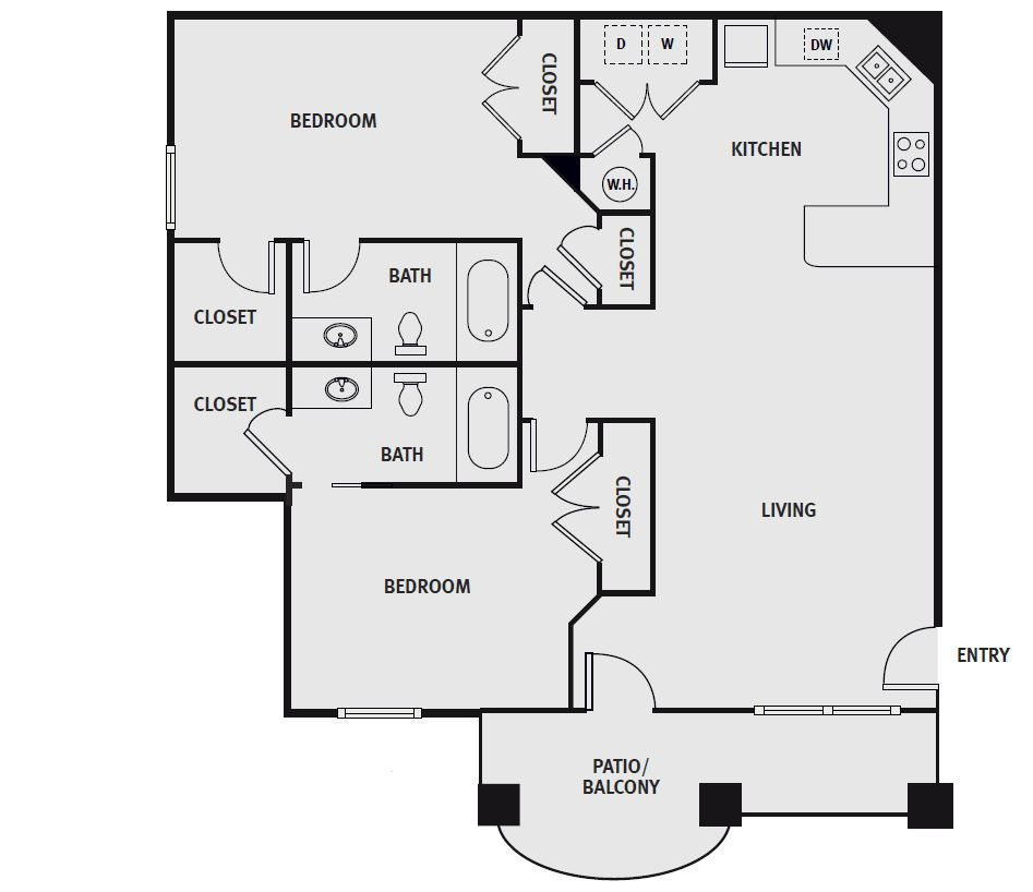 Fairways at Lincoln - Floorplan - The Green - Fully Furnished