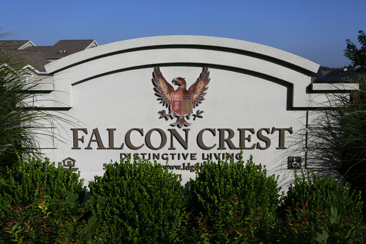 Signage at Falcon Crest Apartments in Louisville, Kentucky