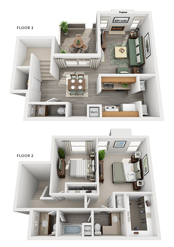 Falls at Clear Lake Apartments - FloorPlan - Pacifica