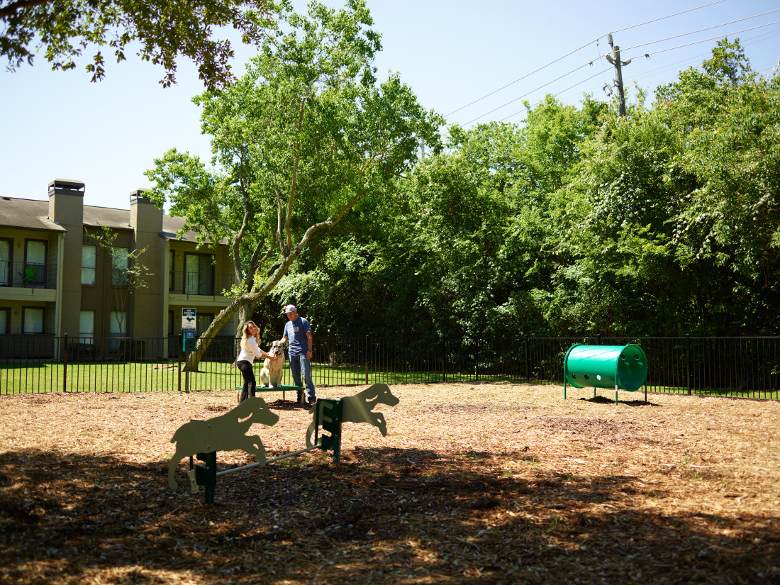 Dog Park at Falls at Clear Lake Apartments in Webster, TX