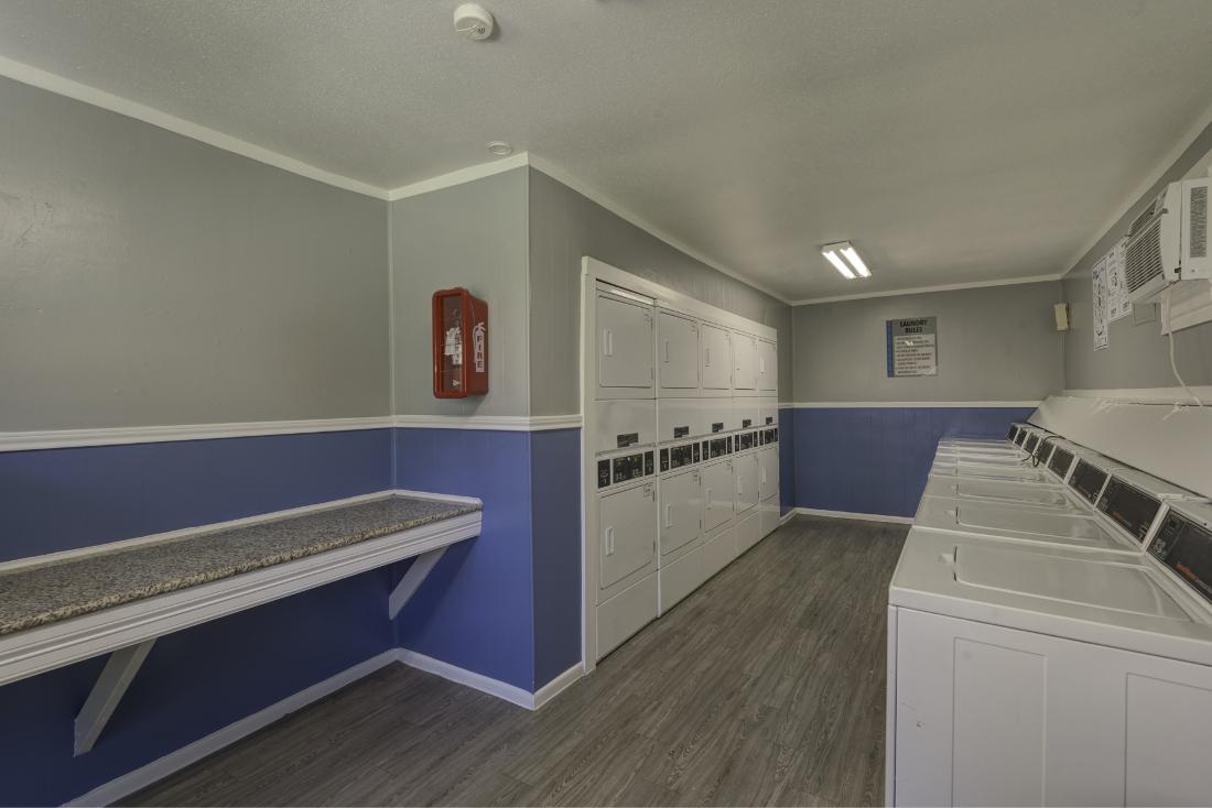 Laundry Facility at Falls at Clear Lake Apartments in Webster, TX