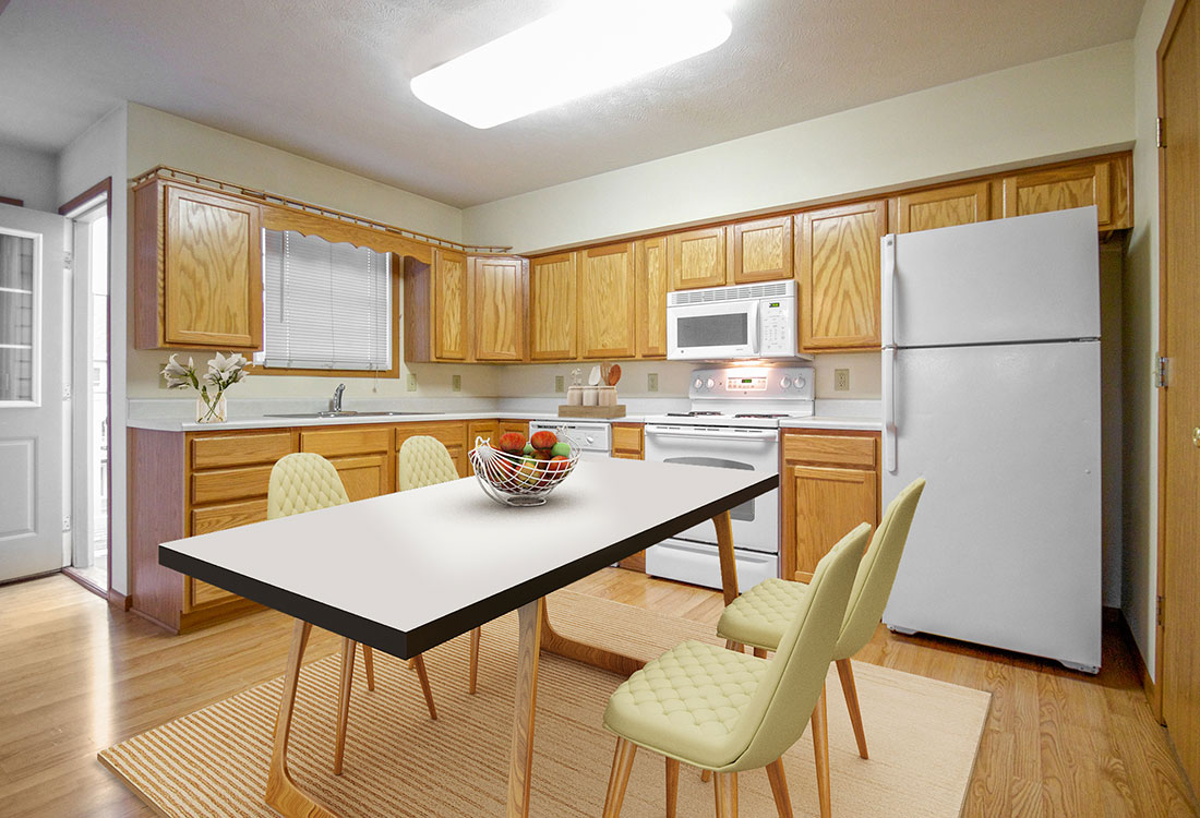 Spacious Kitchens at Fieldstone Place Apartments in Lincoln, NE