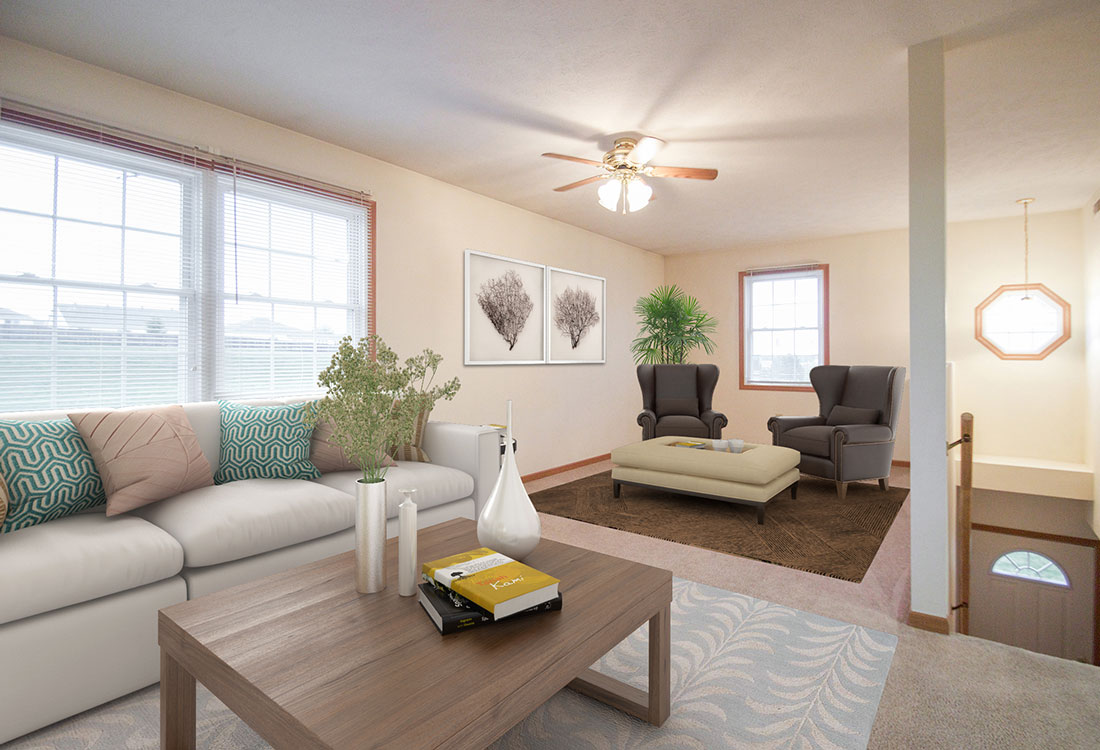 Large Living Rooms at Fieldstone Place Apartments in Lincoln, NE