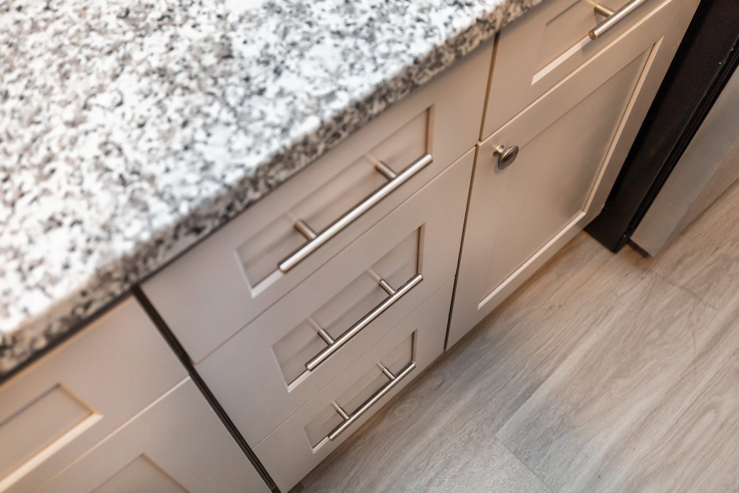 Kitchen Cabinet Drawer at The Five Points at Texas Apartments in Texas City, Texas