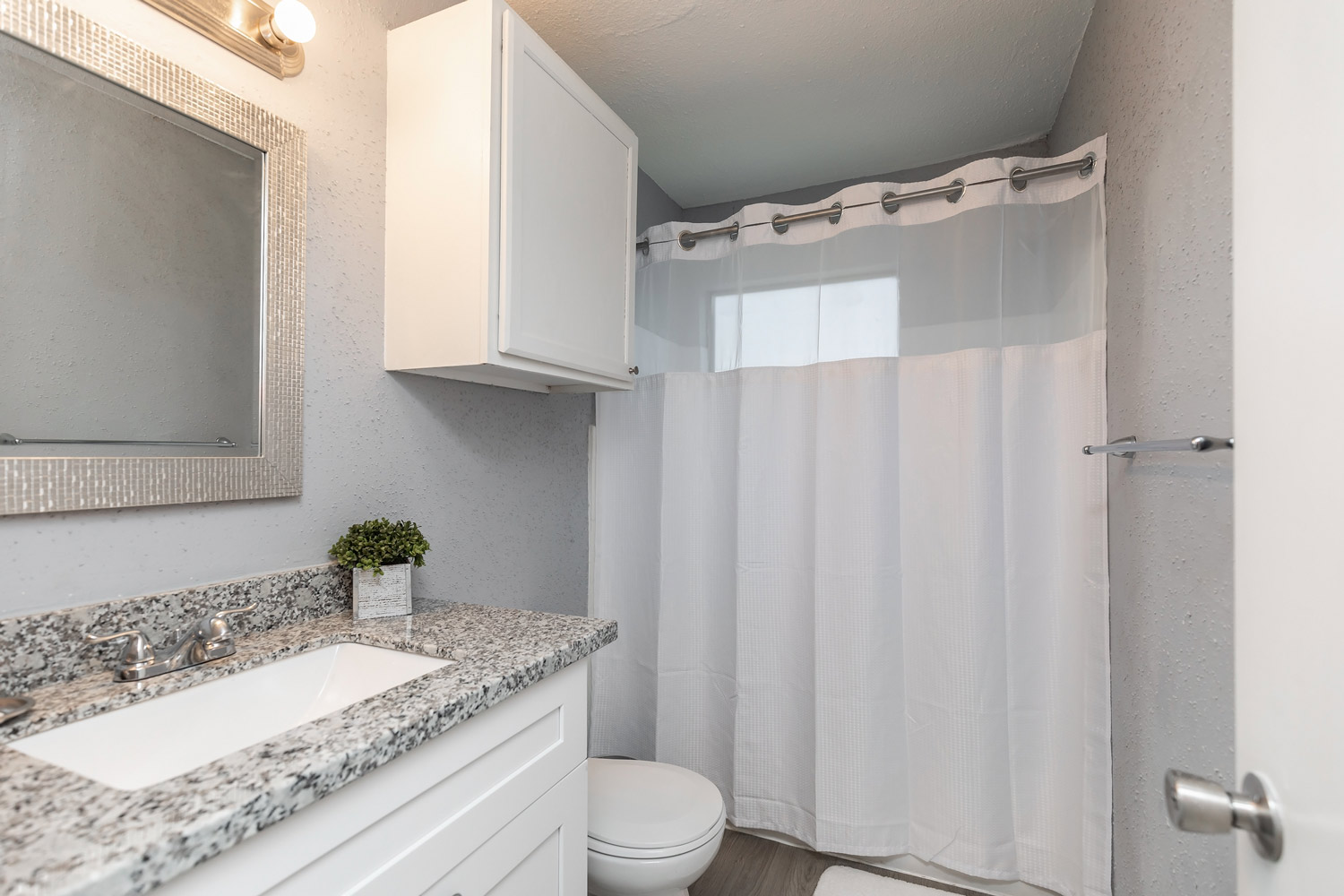 Interior Bathroom at The Five Points at Texas Apartments in Texas City, Texas