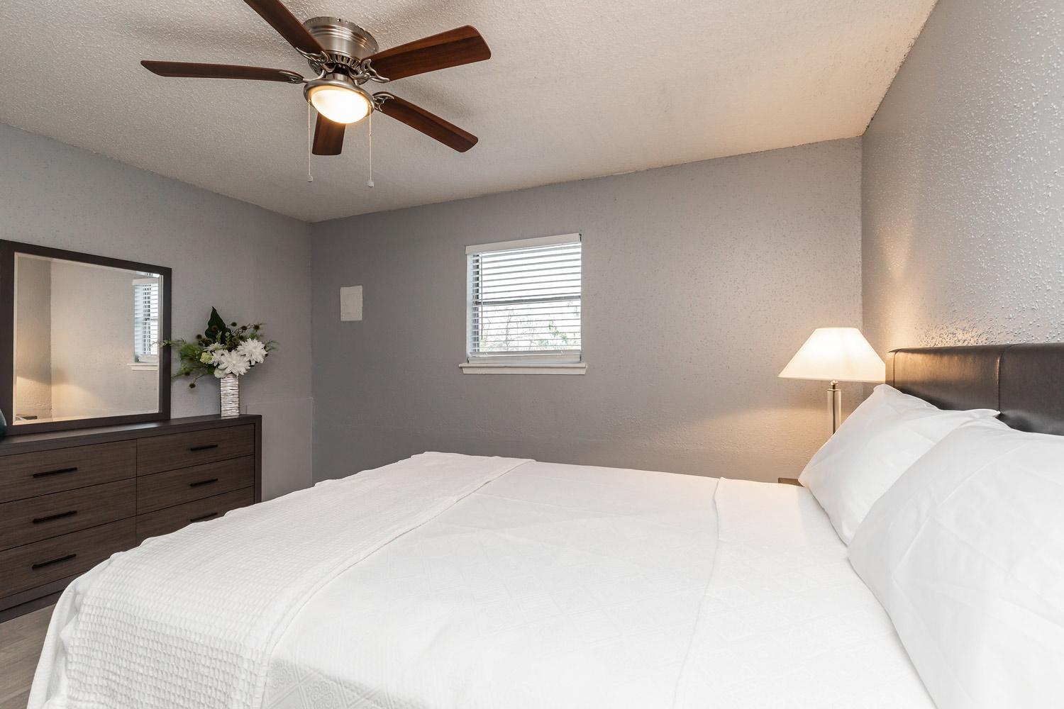 Very Clean Bedroom at The Five Points at Texas Apartments in Texas City, Texas