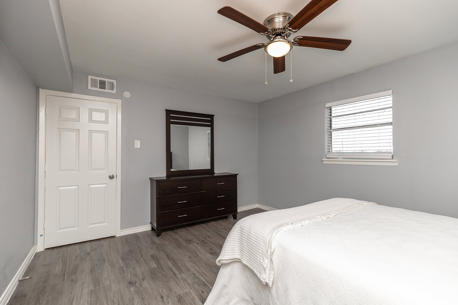 Bedroom with Cabinet at The Five Points at Texas Apartments in Texas City, Texas