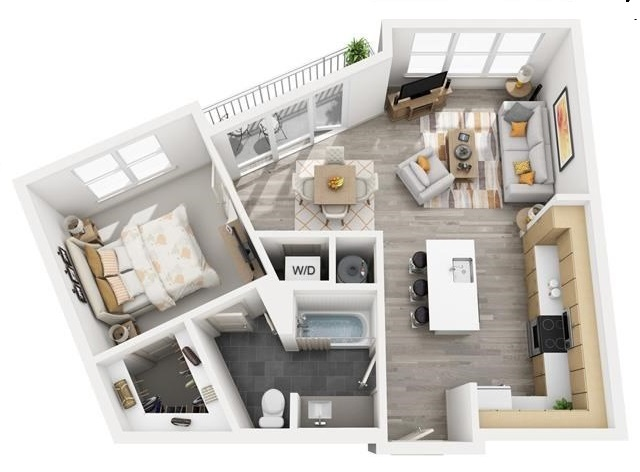 The Flats at Big Tex - Floorplan - A10