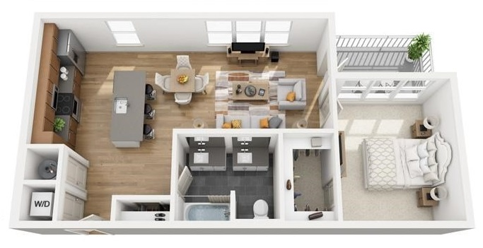 The Flats at Big Tex - Floorplan - A11a