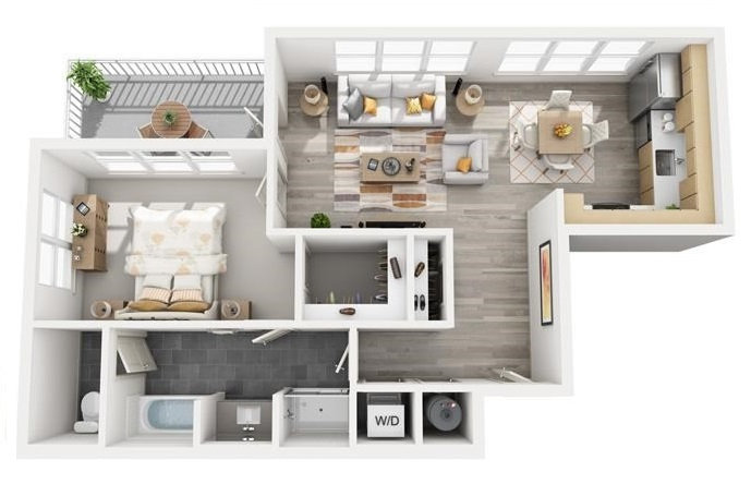 The Flats at Big Tex - Floorplan - A13