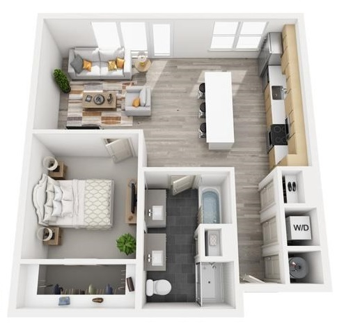 The Flats at Big Tex - Floorplan - A14