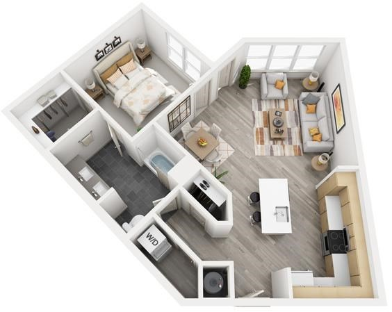 The Flats at Big Tex - Floorplan - A16