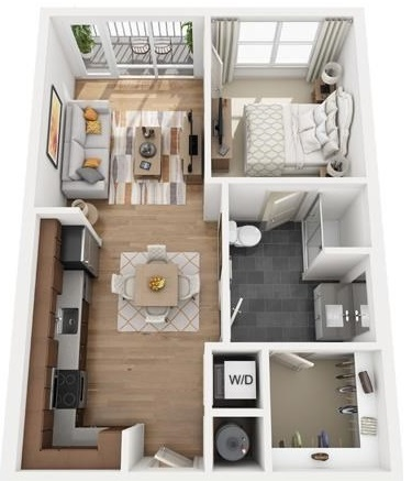 The Flats at Big Tex - Floorplan - A2