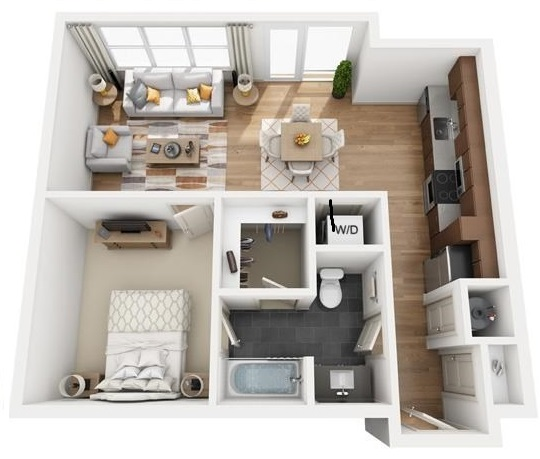 The Flats at Big Tex - Floorplan - A5