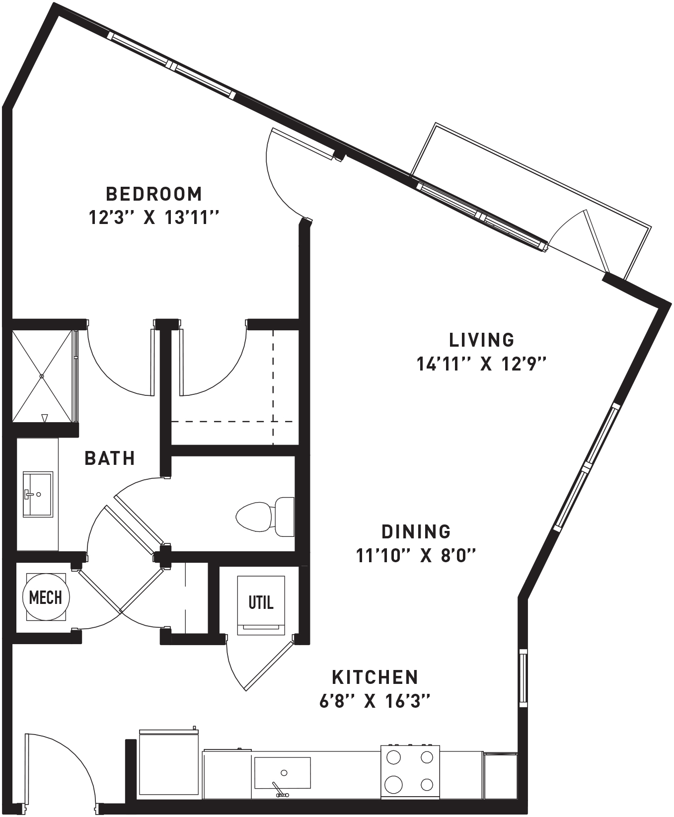 The Flats at Big Tex - Floorplan - A6