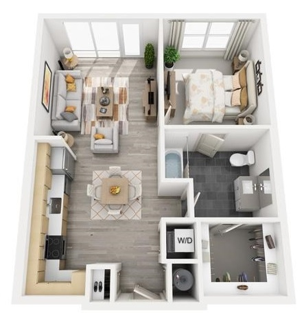The Flats at Big Tex - Floorplan - A9