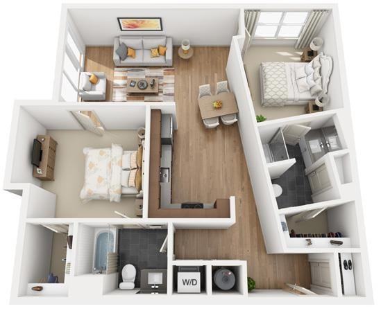 The Flats at Big Tex - Floorplan - B1