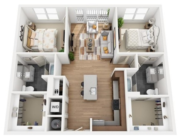 The Flats at Big Tex - Floorplan - B2