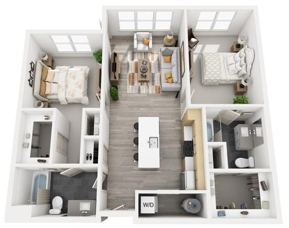 The Flats at Big Tex - Floorplan - B3
