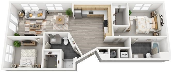 The Flats at Big Tex - Floorplan - B5