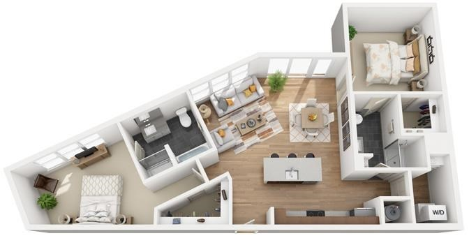 The Flats at Big Tex - Floorplan - B6