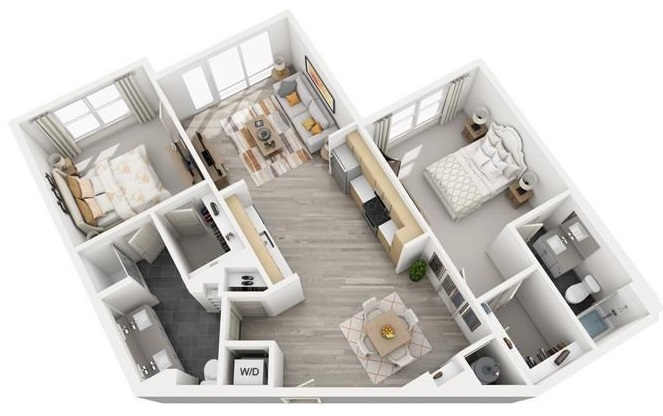 The Flats at Big Tex - Floorplan - B7