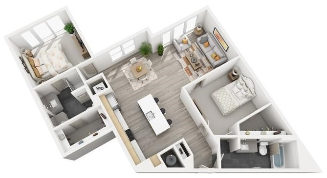 The Flats at Big Tex - Floorplan - B8