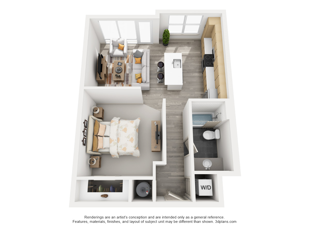 The Flats at Big Tex - Floorplan - A0