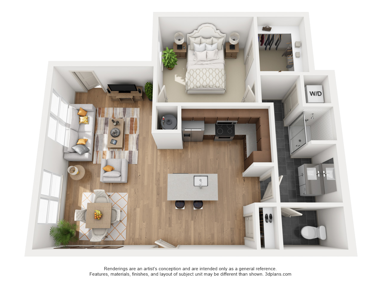 The Flats at Big Tex - Floorplan - A15
