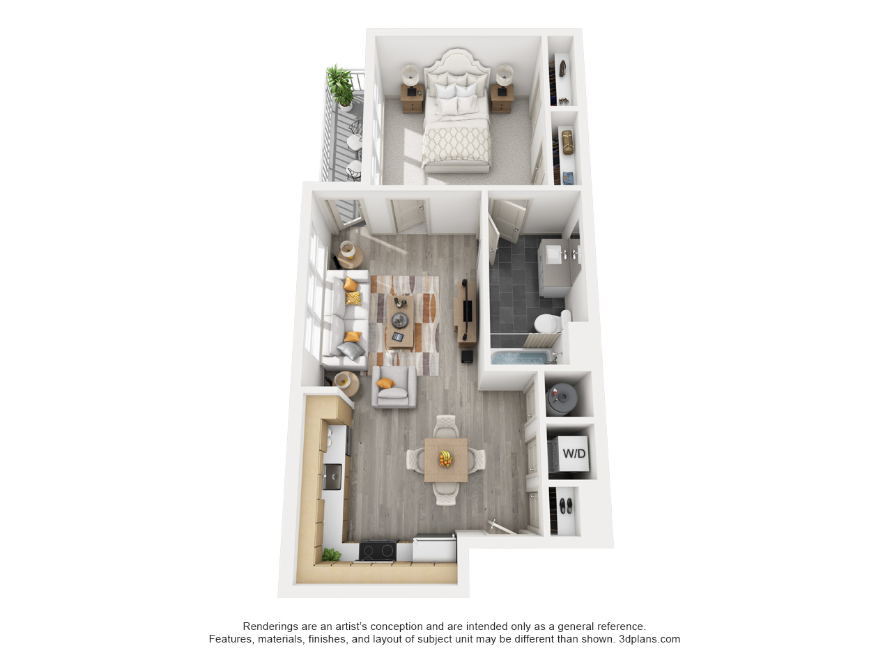 The Flats at Big Tex - Floorplan - A1