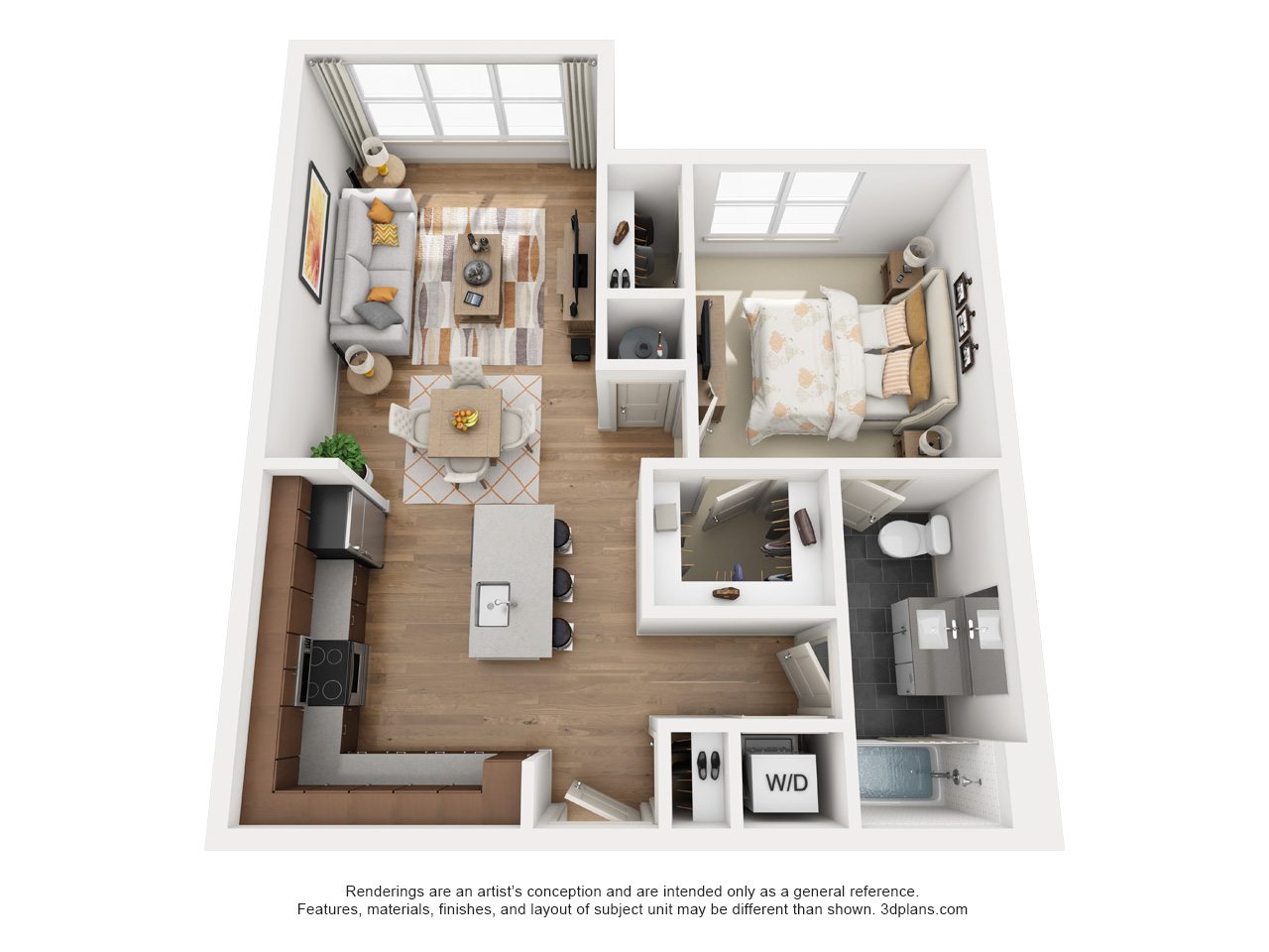 The Flats at Big Tex - Floorplan - A8