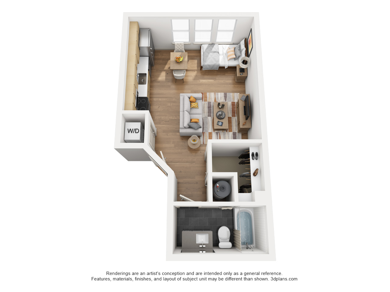 The Flats at Big Tex - Floorplan - E2