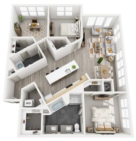 The Flats at Big Tex - Floorplan - C1