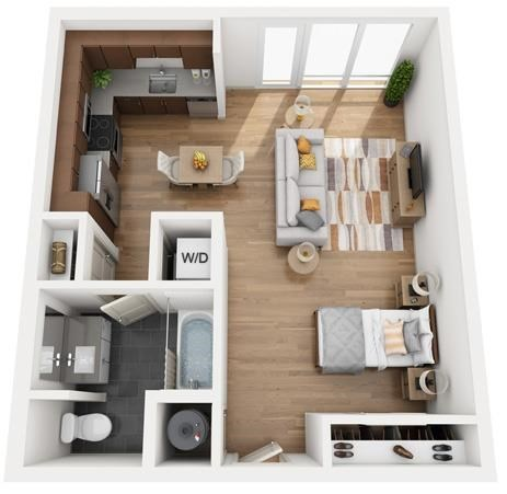 The Flats at Big Tex - Floorplan - E3