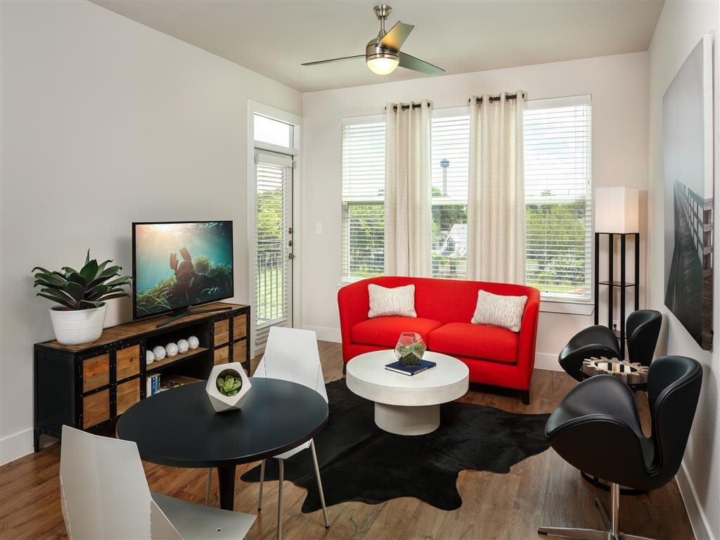 Large Living Room Areas at The Flats at Big Tex Apartments in San Antonio, TX