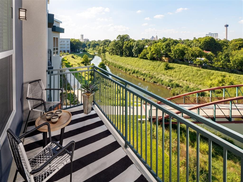 Stunning Balcony Views at The Flats at Big Tex Apartments in San Antonio, TX
