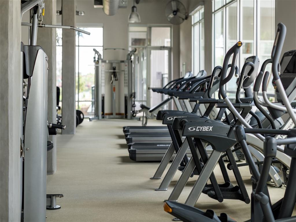 Fully-Equipped Fitness Center at The Flats at Big Tex Apartments in San Antonio, TX
