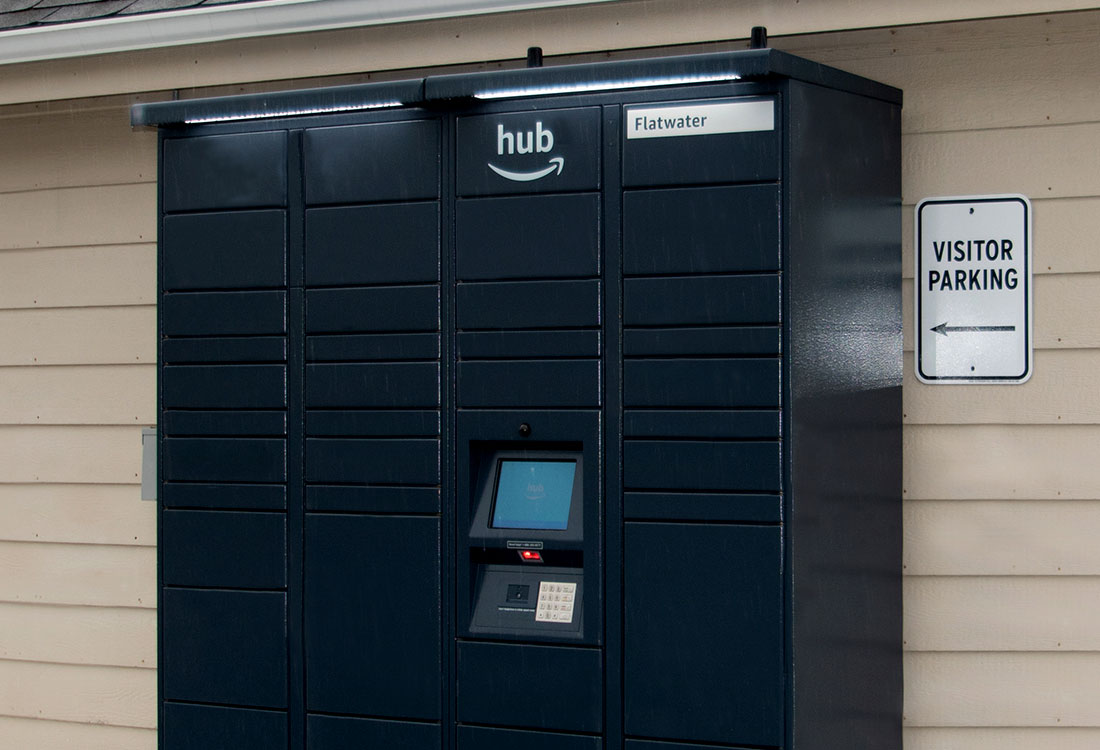 Apartment Homes with Package Receiving Lockers at Flatwater Apartments in La Vista, Nebraska