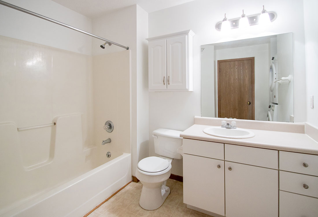 Bathrooms with Flower & Tub Combinations at Flatwater Apartments in La Vista, Nebraska