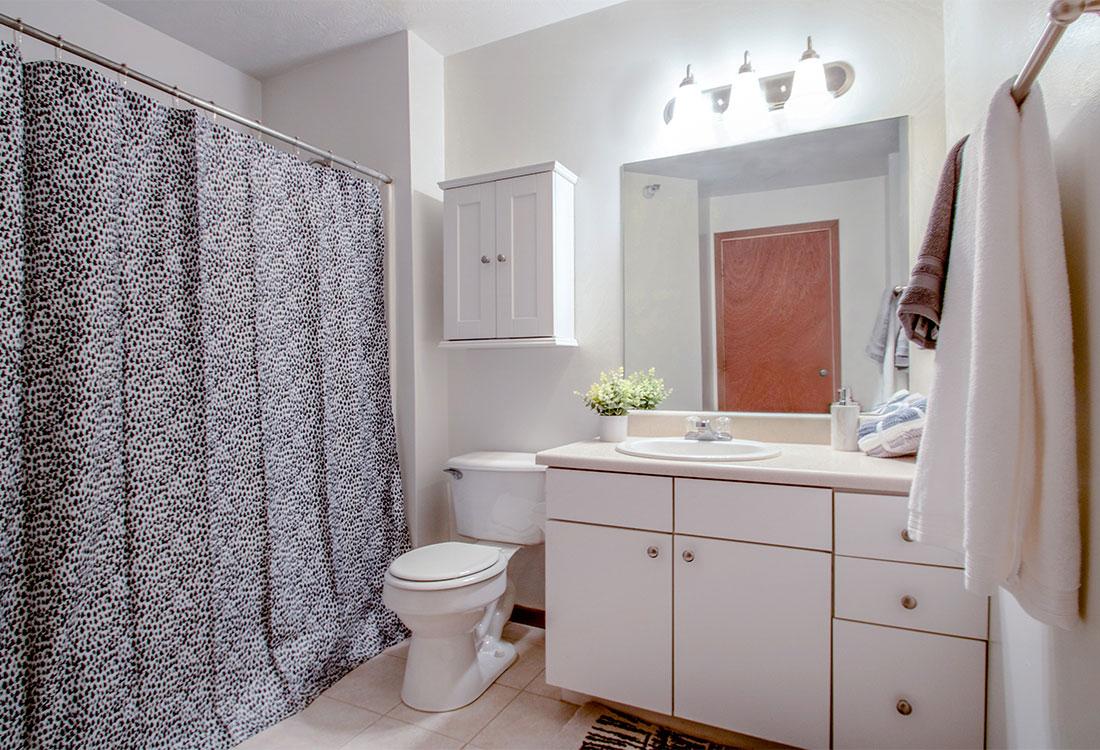 Spacious Bathrooms at Flatwater Apartments in La Vista, Nebraska