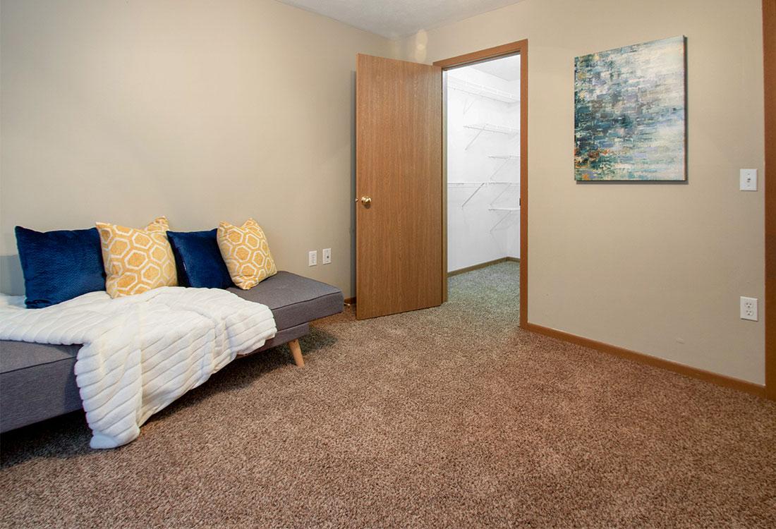 Spacious Bedrooms at Flatwater Apartments in La Vista, Nebraska