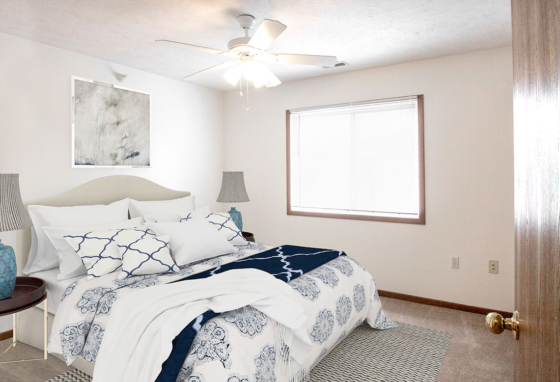 Spacious 2 Bedroom Apartment Layouts at Flatwater Apartments in La Vista, Nebraska