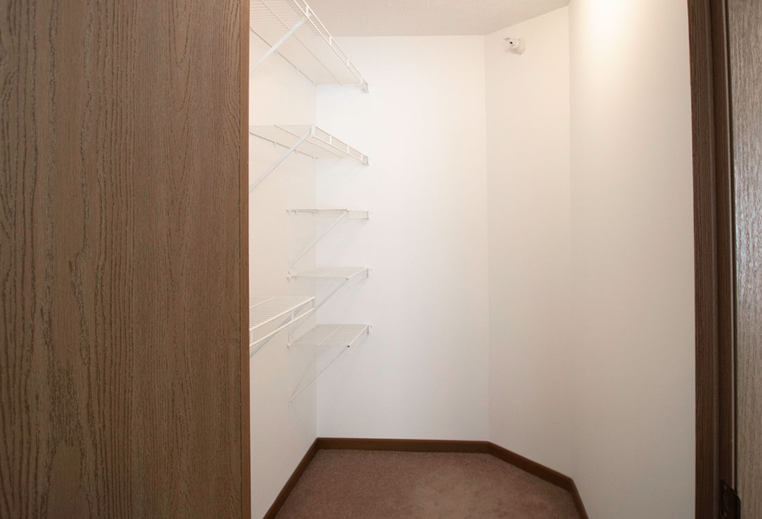 Walk-In Closets at Flatwater Apartments in La Vista, Nebraska