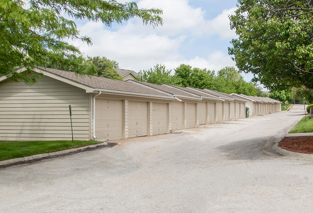 Apartment Homes with Garage Parking Available at Flatwater Apartments in La Vista, Nebraska