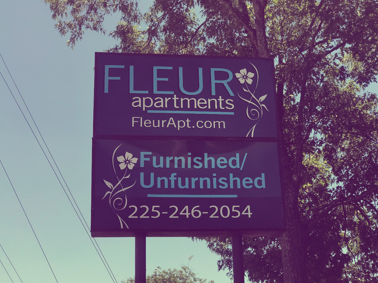 Signage @ Fleur Apartments in Baton Rouge, LA