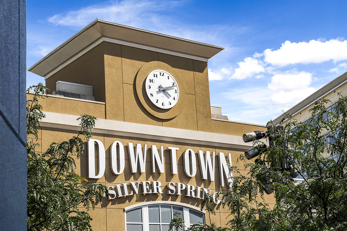 Downtown Silver Spring is 8 minutes from Flower Branch Apartments in Silver Spring, MD