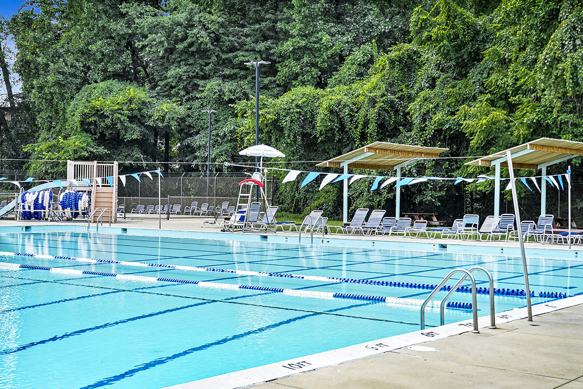 Long Branch swimming pool is 1 block from Flower Branch Apartments in Silver Spring, MD