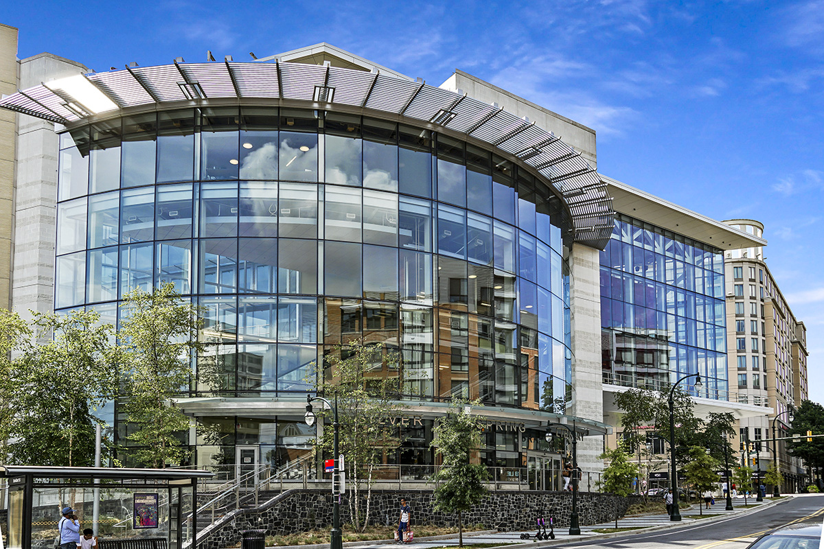 Silver Spring Library is 6 minutes from Flower Branch Apartments in Silver Spring, MD